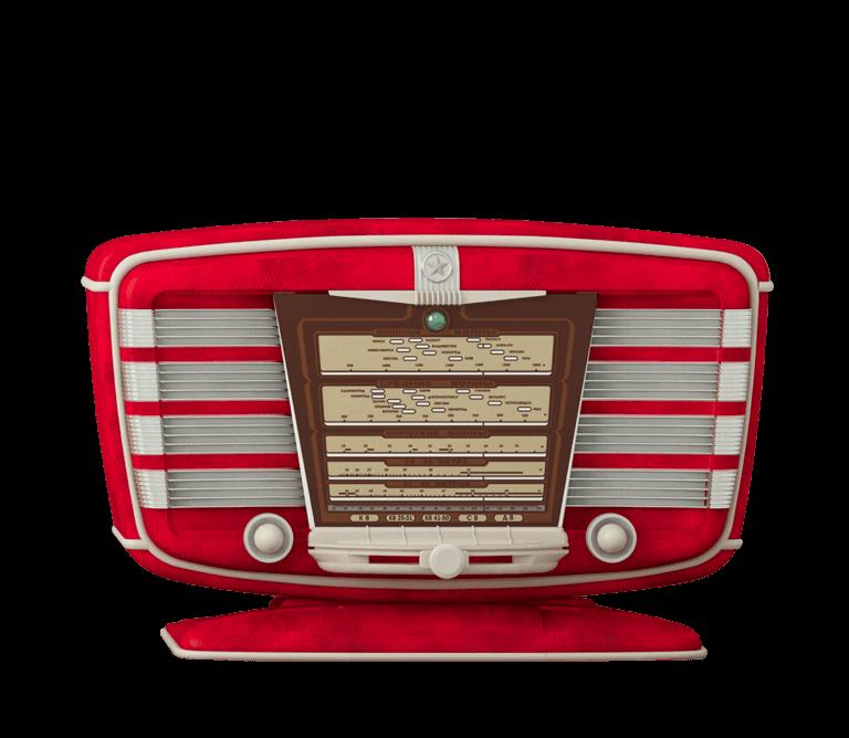 Foto di una radio vintage