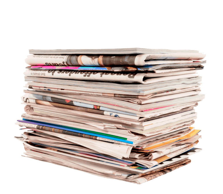 Foto di una pila di giornali